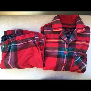 Victoria's Secret red plaid pajamas
